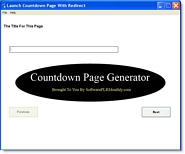 Countdown Page Generator