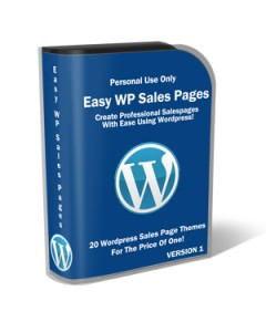Thumbnail Easy WordPress Sales pages