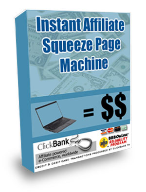 Product picture Instant Affiliate Sqeeze Page Machine