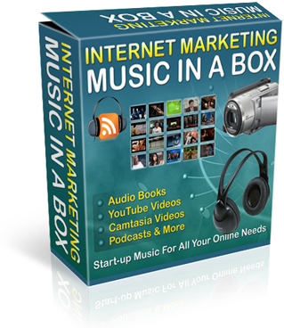 Product picture Internet Marketing Music in a Box : Start-up Music For All Online Needs