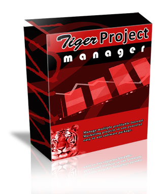 Product picture Tiger Project Manager - Manage Multiple Profitable Products With Ease!