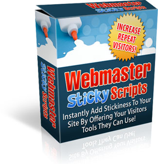 Product picture Webmaster Sticky scripts -Webmaster Tool Generator Scripts with Master Resell Rights!