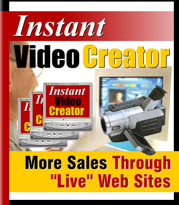 Product picture Instant VideoCreator - Give Your Web Site a