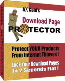 Product picture Download Page Protector - Easy Way To Protect YOUR Products From Internet Thieves!