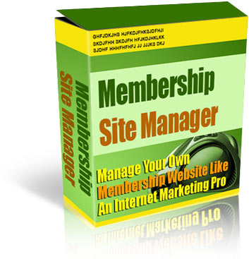 Product picture Membership Site Manager - Manage your own membership site Like an Internet Marketing Pro!