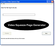 Product picture Video Squeeze Page Generator